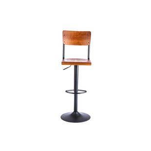 Review Hotaling Height Adjustable Swivel Bar Stool