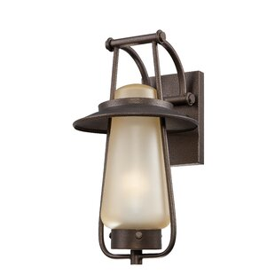 Deals McLeroy 1-Light Outdoor Wall Lantern By Loon Peak