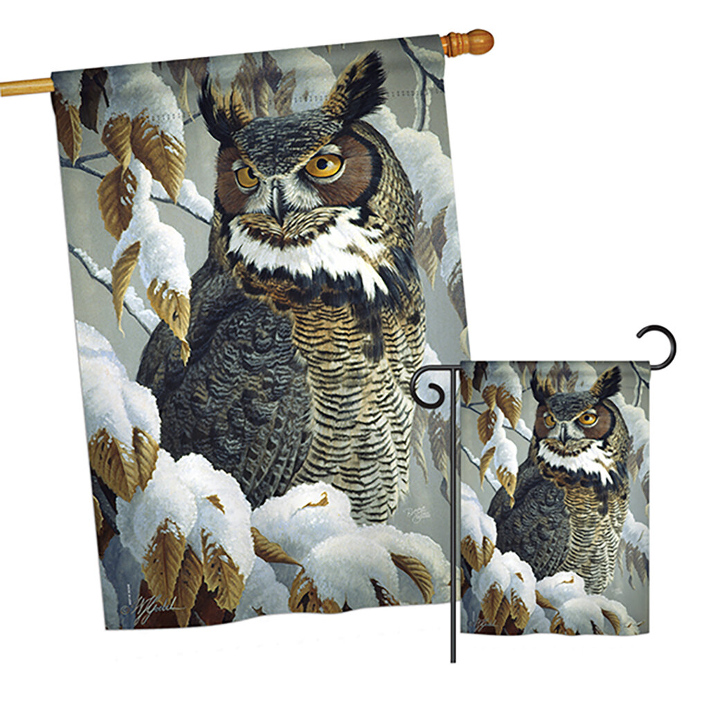 Breeze Decor Great Horned Owl Friends Birds 2 Sided Polyester 40 X 28 In Garden Flag Wayfair