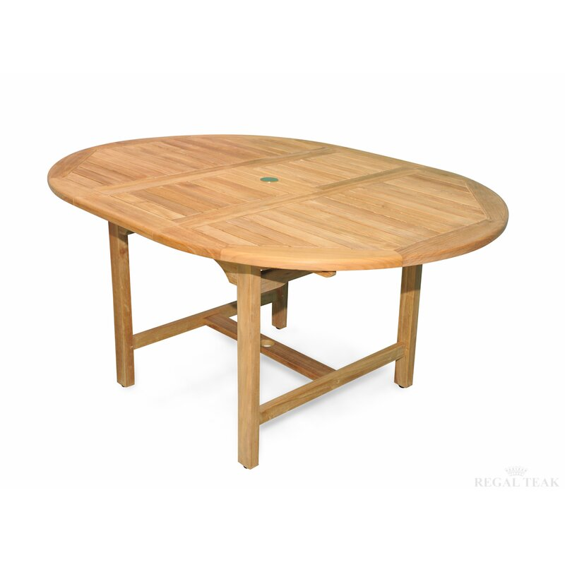 Regal Teak Extension Extendable Teak Dining Table Reviews Wayfair - Outdoor teak extension dining table