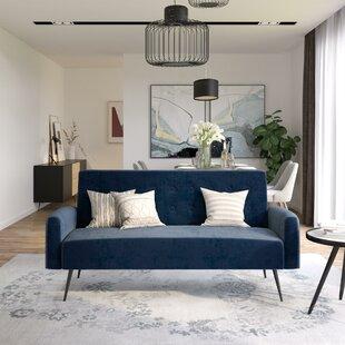 Stevie Tufted Back Convertible Sofa By Novogratz
