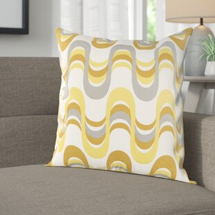 Arsdale Wave Cotton Throw Pillow Cover