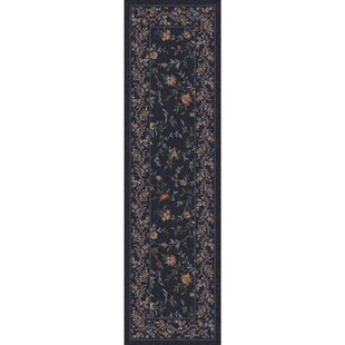 Looking for Shryock Hampshire Floral Ebony Runner By Astoria Grand