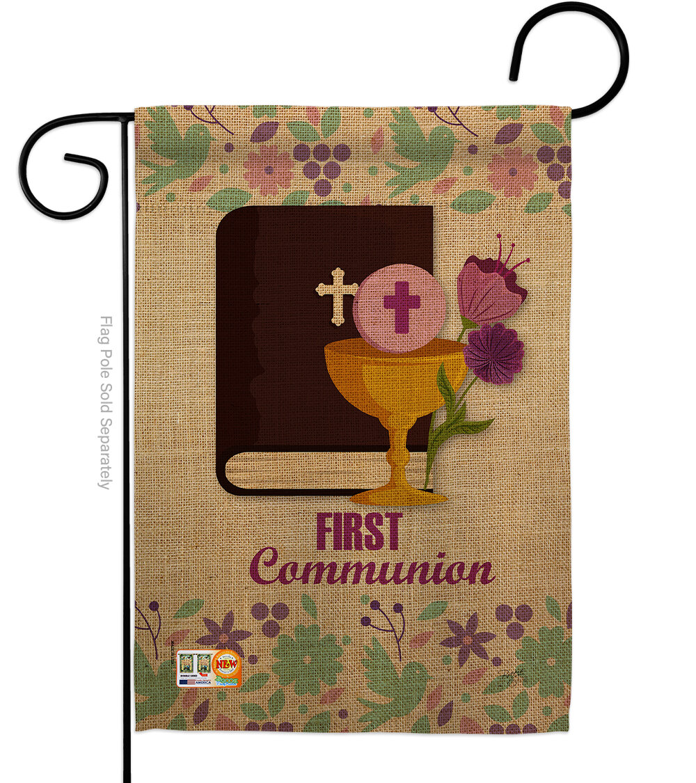 Breeze Decor First Communion 2 Sided Polyester 18 5 X 13 In Garden Flag Wayfair