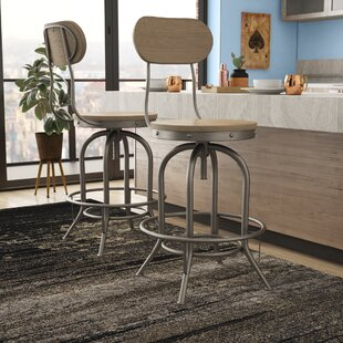 Doliver Adjustable Height Swivel Bar Stool (Set of 2)