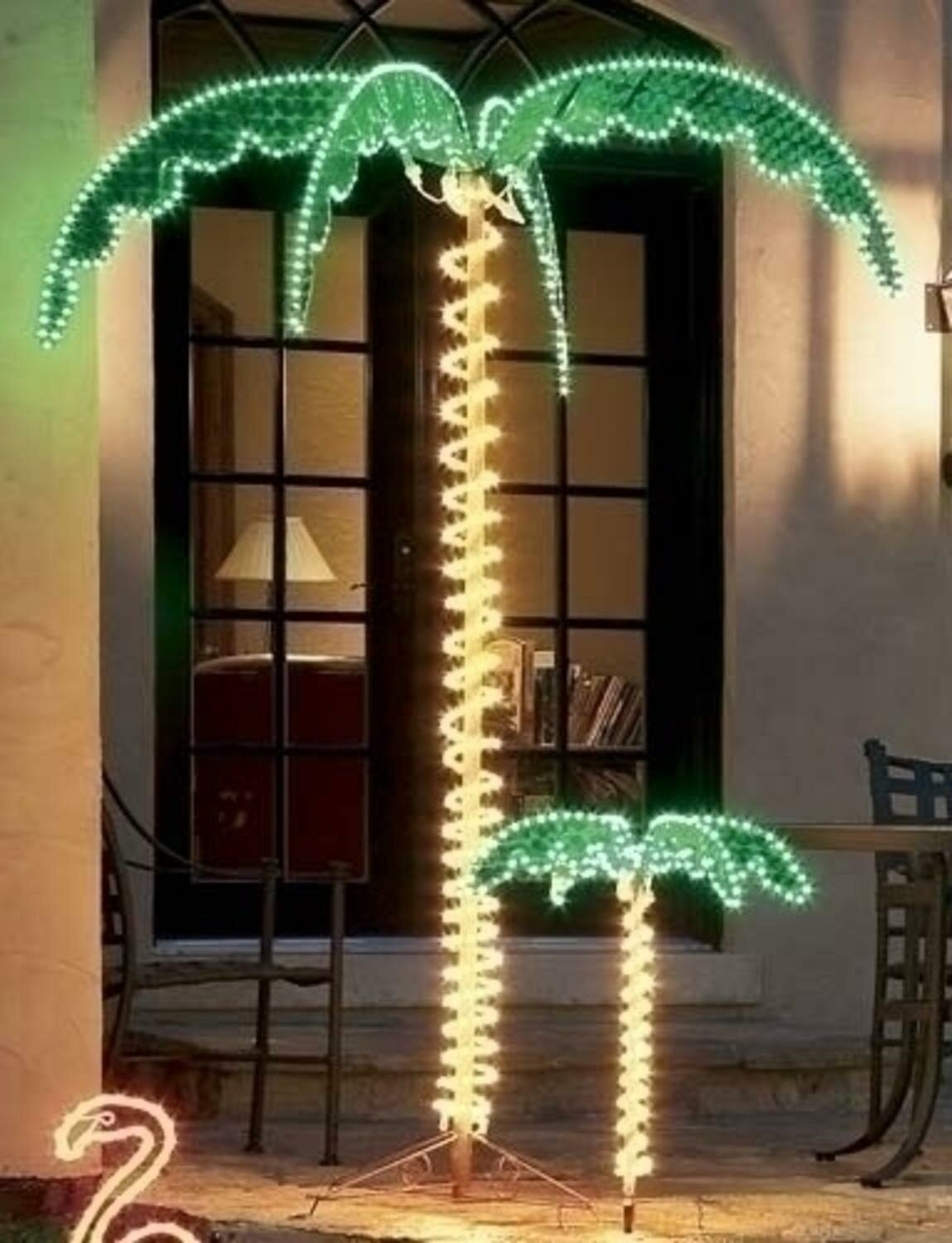 Northlight Tropical Lighted Holographic Rope Light Outdoor Palm Tree | Wayfair & Northlight Tropical Lighted Holographic Rope Light Outdoor Palm Tree ...