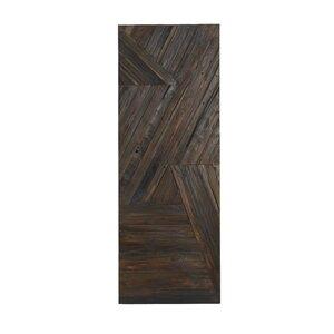 Rustic Geometric Patterned Teak Wood Wall Decor