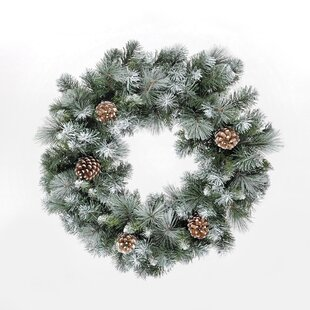 Frosted Glacier 60cm Fir Wreath By Hazelwood Home
