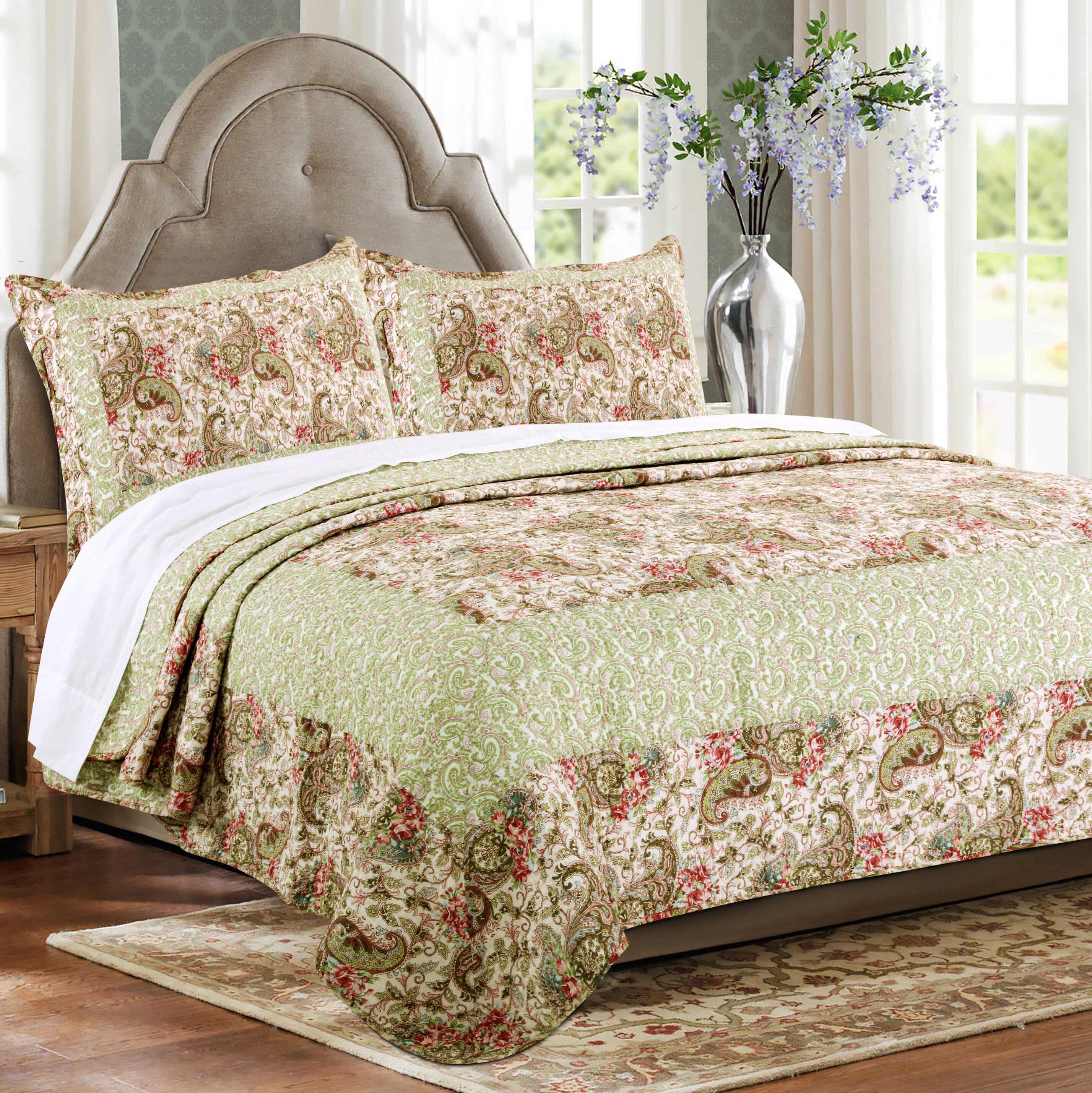 Greenland Home Fashions Voltaire Reversible Quilt Set Wayfair