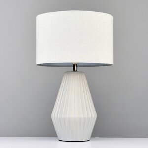 Ribbed Ceramic 41cm Table Lamp