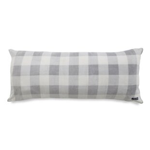Gingham Printed Plush Polyfill Body Pillow