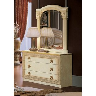 Albert 3 Drawer Dresser with Mirror by Rosdorf Park