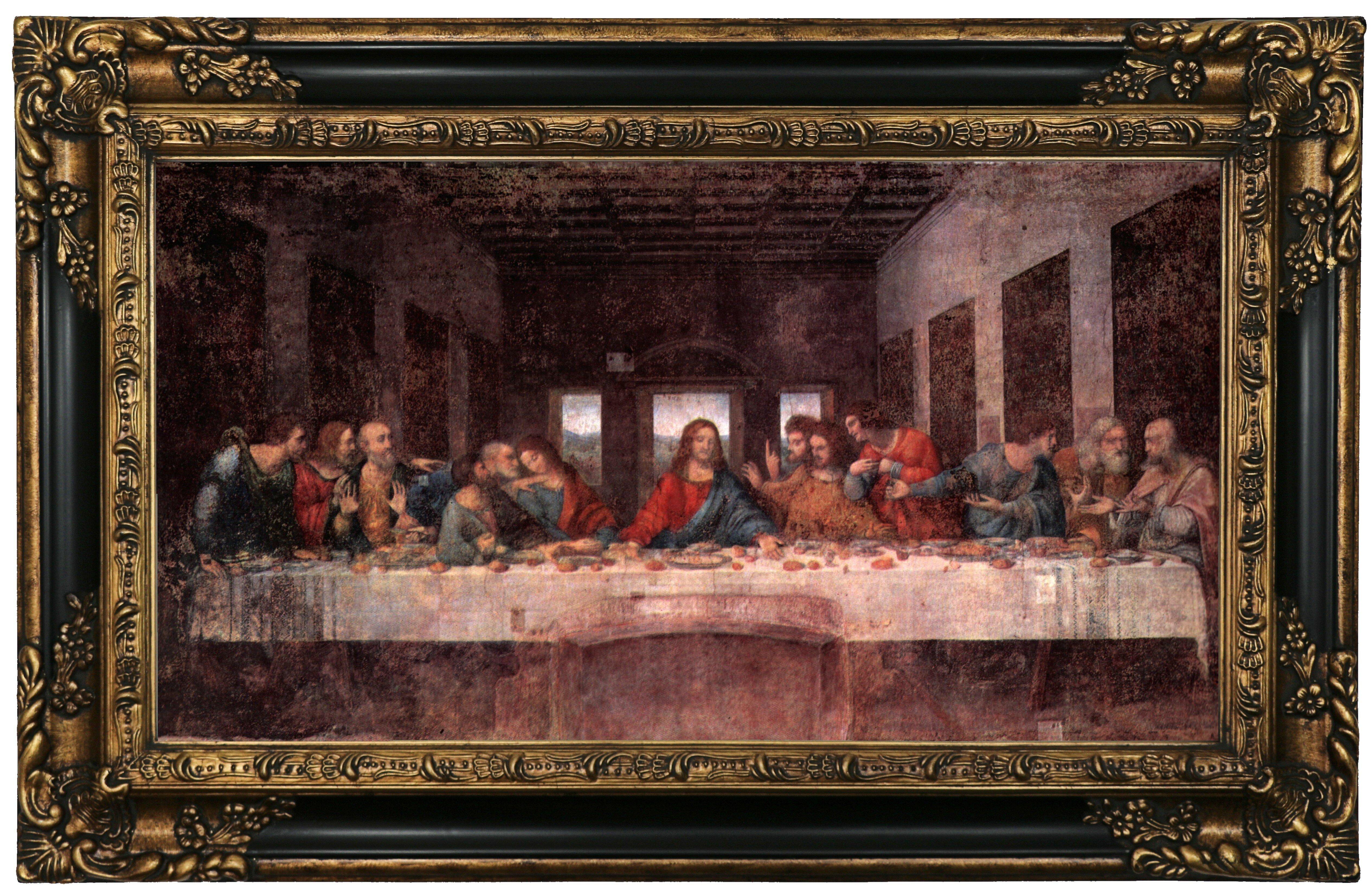 THE LAST SUPPER JESUS CHRIST BY LEONARDO DA VINCI PAINTING REAL CANVASART PRINT