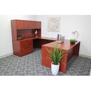 Symple Stuff 5 Piece U-Shape Desk Office Suite