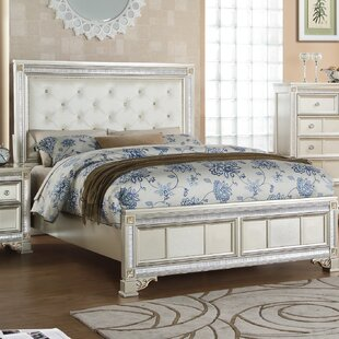 Fairfax Home Collections Tiffany Upholstered Panel Bed