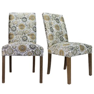 Cassian Sky Dive Cork Upholstered Dining Chair (Set of 2) Bungalow Rose