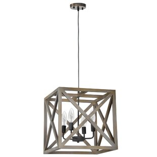 Novick 4-Light Square Pendant by Gracie Oaks