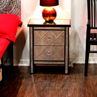 Reviews Lucretia End Table With Storage by House of Hampton