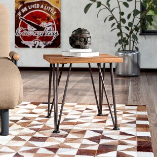 Guyapi Indoor Acacia Wood Side Table by Trent Austin Design