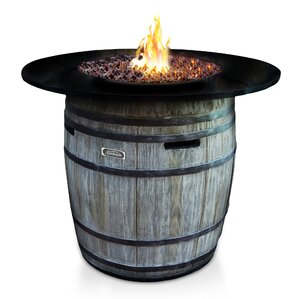 Granite Top Wine Barrel Fire Table