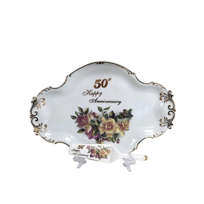 August Grove Dengler 2 Piece 50th Anniversary Decoarative Plate Set Wayfair