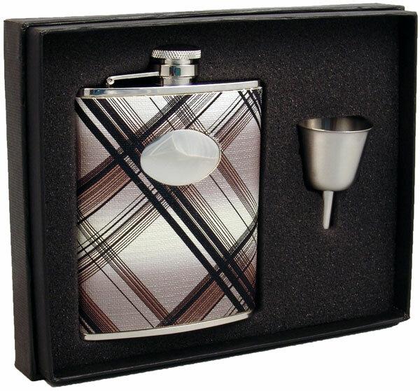 Visol Products Stellar Ii Plaid Legacy Flask Gift Set Wayfair