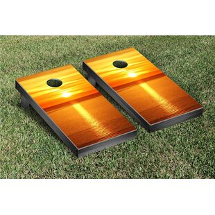 Victory Tailgate Ocean Sunset Version 2 Cornhole Game Set