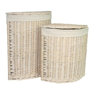 Corner Lining Wicker 2 Piece Laundry Set By August Grove