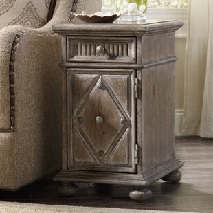 True Vintage End Table with Storage by Hooker Furniture