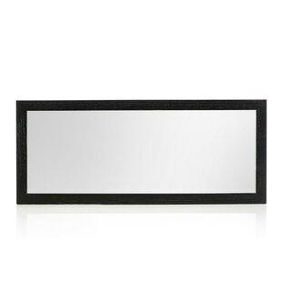 Buy clear Rectangle Black Oak Wall Mirror ByWade Logan