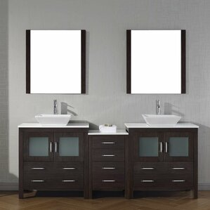 double vessel sink vanity.  Vessel Sink Vanities You ll Love Wayfair