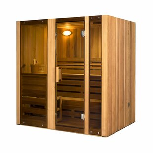 Person Corner 4 Person Traditional Steam Sauna By ALEKO