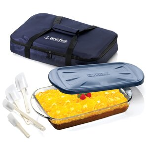 3 Piece Ovenware Set with Tote Bag