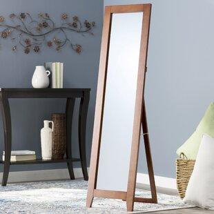 Wooden Mirror Stand Designs : Dark wood full length mirror wayfair