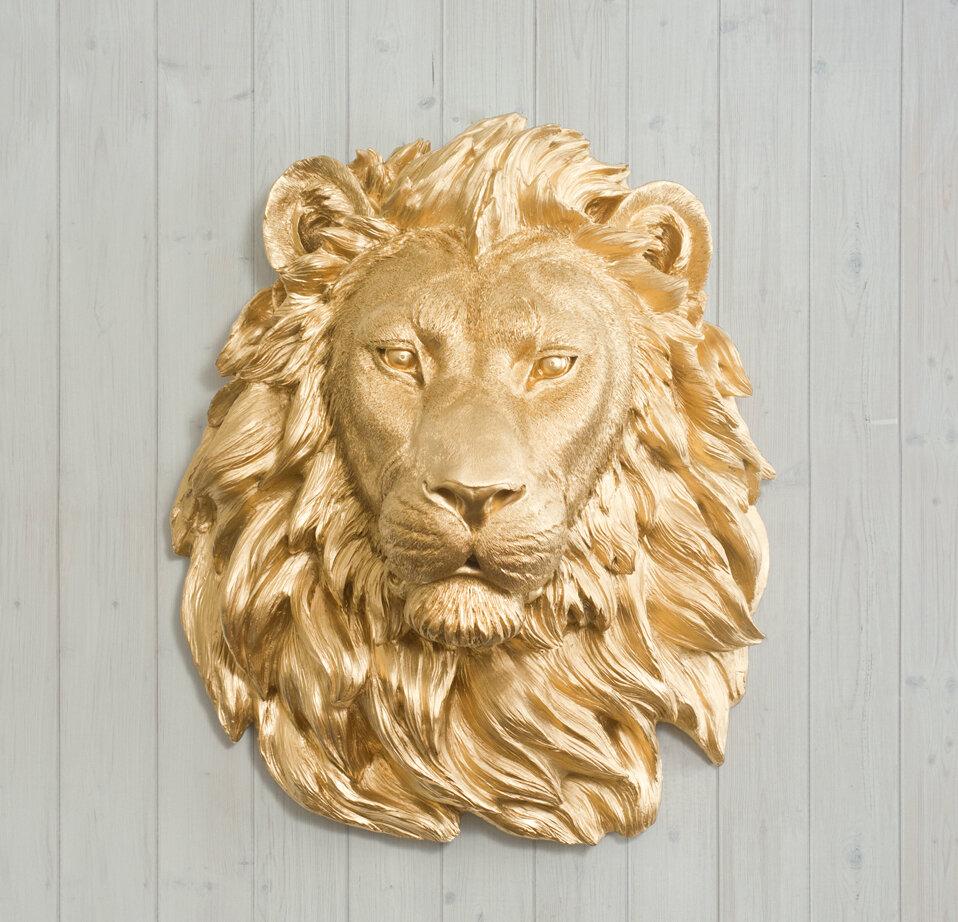 Saharan Faux Taxidermy Lion Head Wall Décor   AllModern