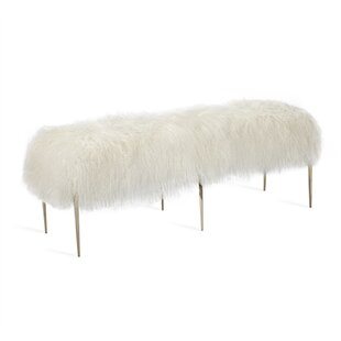Stiletto Sheepskin Upholstered Bench