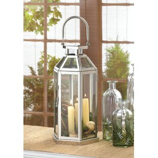 Check Prices Stainless Steel and Glass Lantern By Zingz & Thingz