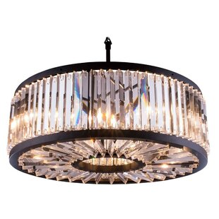 Everly Quinn Dorinda10-Light Crystal Chandelier
