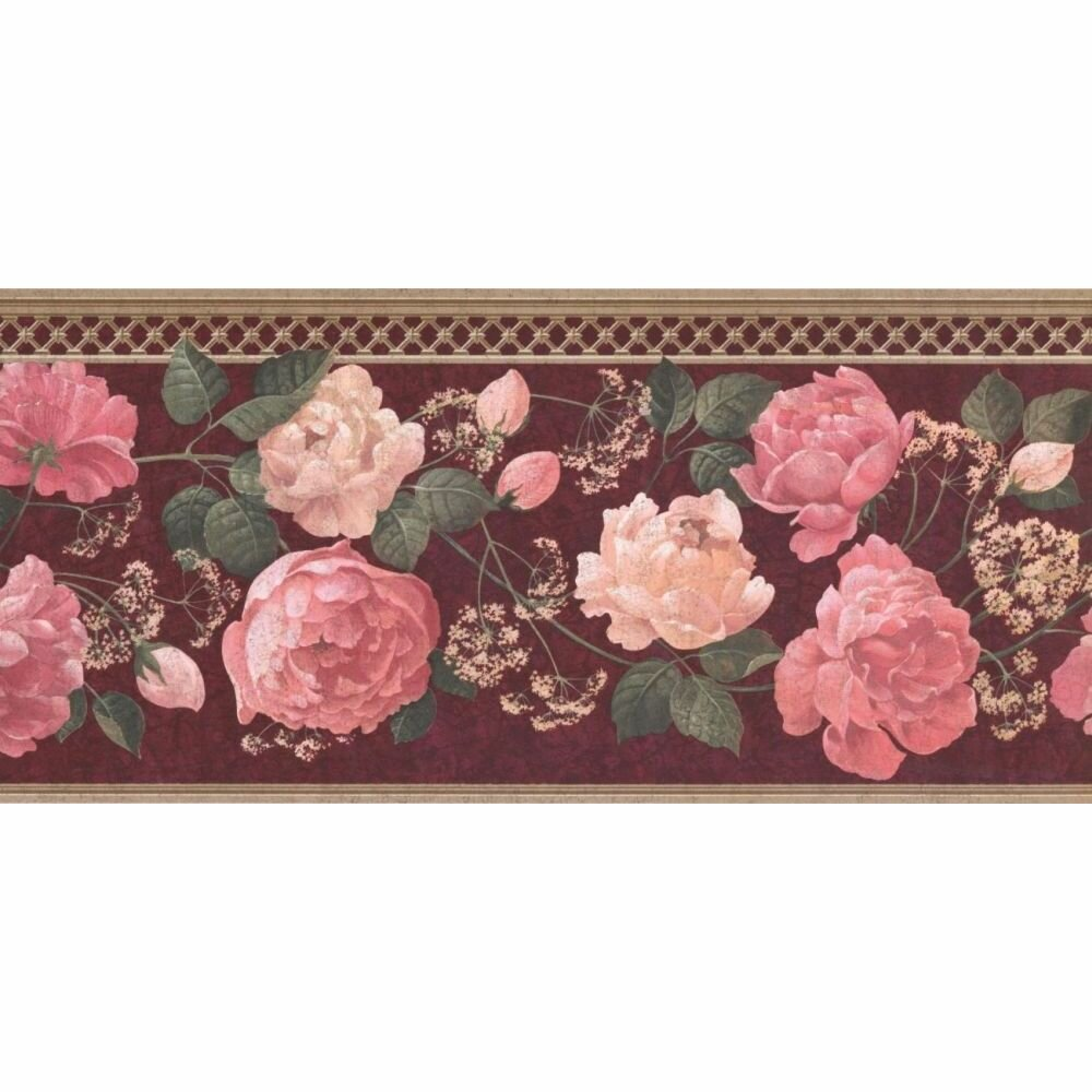 Astoria Grand Cozad Floral 15 L X 9 W Wallpaper Border Wayfair