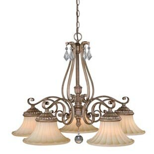 Vaxcel Avenant 5-Light Shaded Chandelier