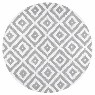 Obadiah Handwoven Wool Gray/Ivory Area Rug by Mercury Row