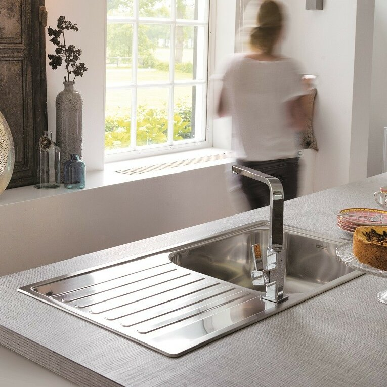 Reginox 100cm x 50cm Inset Kitchen Sink & Reviews | Wayfair.co.uk