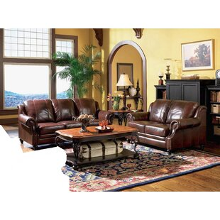 Price Check Hensley 2 Piece Leather Living Room Set by Loon Peak Reviews (2019) & Buyer's Guide