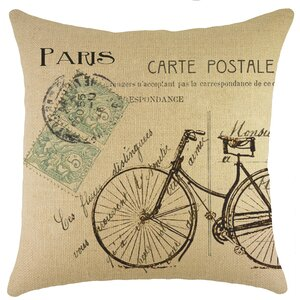 Saxatil Burlap Throw Pillow