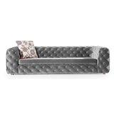 Keil Velvet 100 Tuxedo Arm Sofa by Everly Quinn