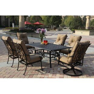 Darby Home Co Lanesville 7 Piece Dining Set with Cushions