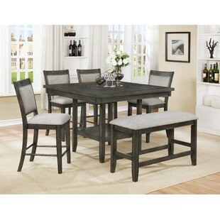 Gracie Oaks Addie 6 Piece Counter Height Dining Set (Set of 6)