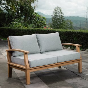 Elaina Teak Loveseat with Cushions