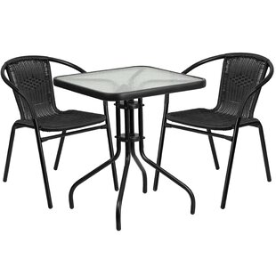 Breakwater Bay Boswell 3 Piece Bistro Set