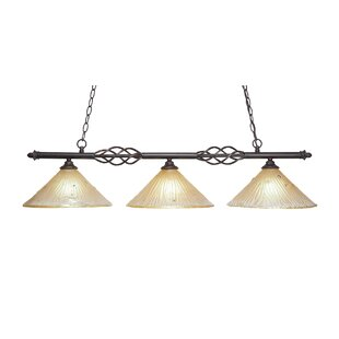 Astoria Grand Pierro 3-Light Kitchen Island Pendant